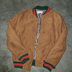 Gucci suede brown bomber